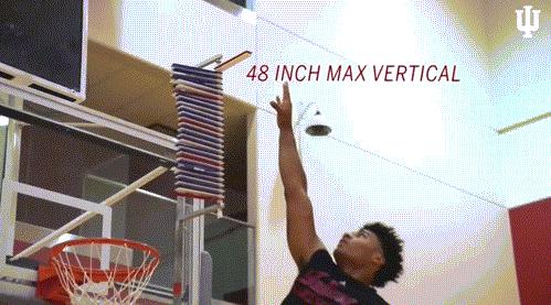 超越喬神!摸籃板上沿的男人終於出現了,印大天才縱跳1.22米破NBA體測紀錄!