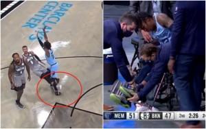 【影片】觸目驚心!莫蘭特左腳踝嚴重扭傷,坐輪椅離開球場接受治療!