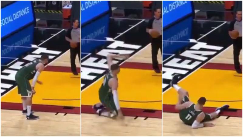 【影片】大Lopez為何突然倒地?原因令人大笑,他是做給裁判看的!