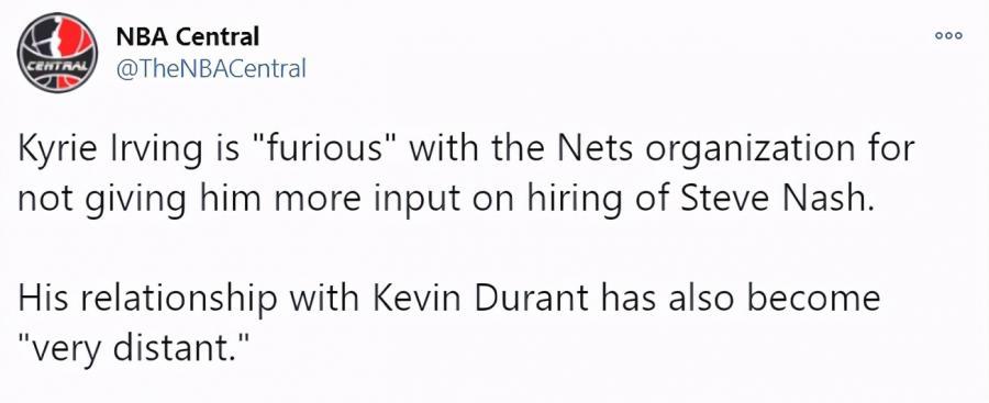 不滿主帥,疏遠杜蘭特,如今與哈登位置衝突,厄文已成為籃網最大隱患?-黑特籃球-NBA新聞影音圖片分享社區