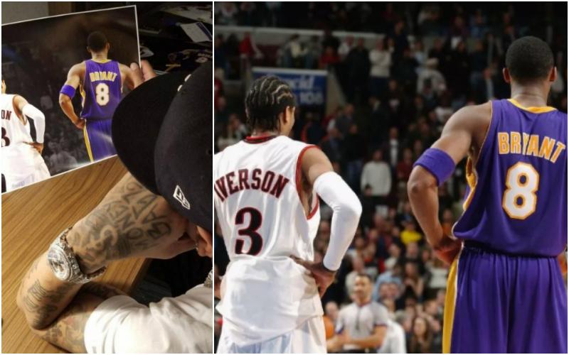真的淚目了!Iverson社媒曬和好兄弟Kobe的合照,戰神:我想你了,那個男人!