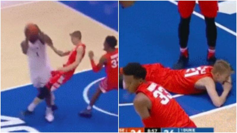 【影片】NBA球員衝擊力多可怕?胖虎撞到對手人仰馬翻,詹皇的突破堪比摩托!