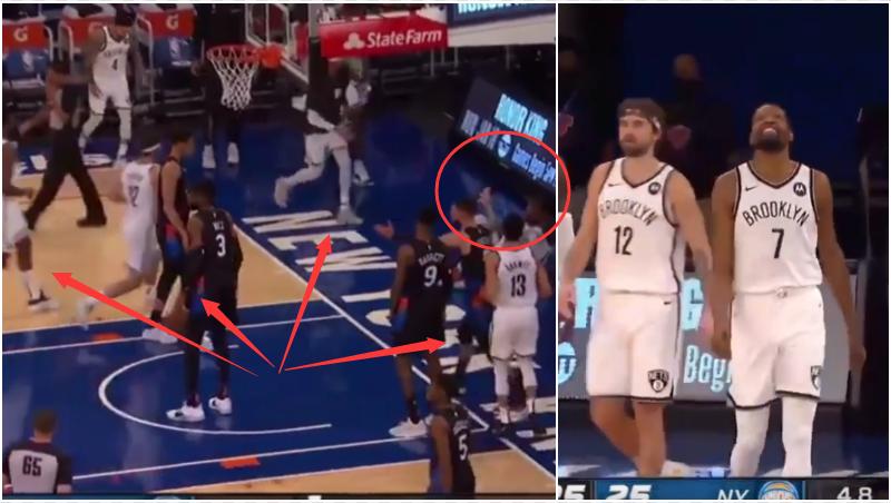 【影片】杜蘭特進攻摔倒在地,注意看籃網球員的舉動,誰是球隊老大顯而易見!-黑特籃球-NBA新聞影音圖片分享社區