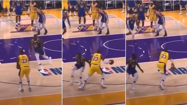 【影片】詹姆斯賽後重看錄像,不滿裁判雙標吹罰:同樣的動作,吹我走步但不吹格林?
