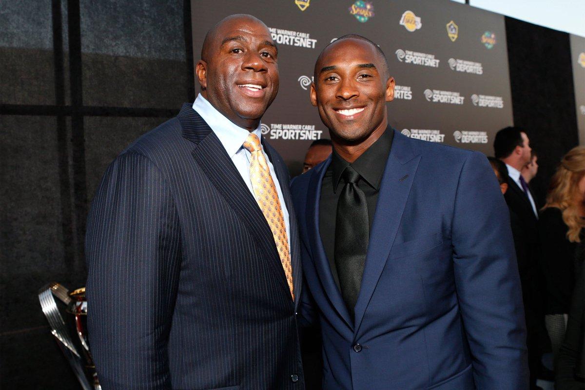 魔術強森遺憾老大不能親赴名人堂:若Kobe在世,他的演講將超越喬丹!-籃球圈