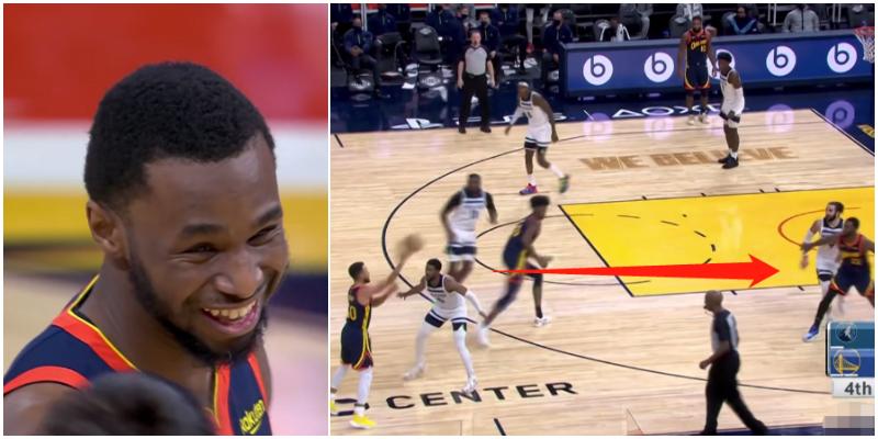 Wiggins手感火熱,Curry放棄進攻示意他繼續打,賽後Wiggins:找不到離開勇士的理由!(影)
