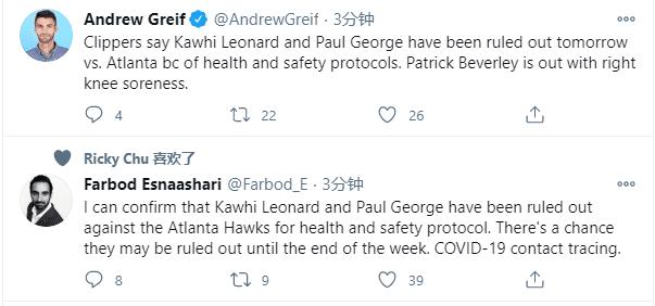 快艇大麻煩來了!可愛喬治被隔離導致缺陣,留在洛杉磯+未隨隊出征!-籃球圈