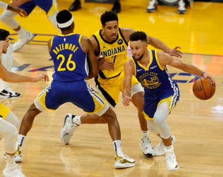 Sabonis 18+14+6,溜馬末節使用Box-1戰術一波帶走勇士,Curry受限得20分!(影)-籃球圈