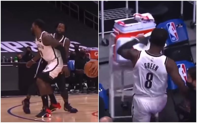【影片】這動作太狠了!慢鏡頭回放Beverley傷人瞬間,格林離場憤怒踹翻飲料箱!-黑特籃球-NBA新聞影音圖片分享社區