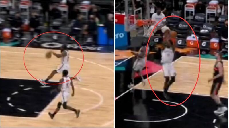【影片】這樣的氛圍已經不能再好!籃網抄截下快攻被故意犯規後,哈登厄文兩兄弟玩上了!