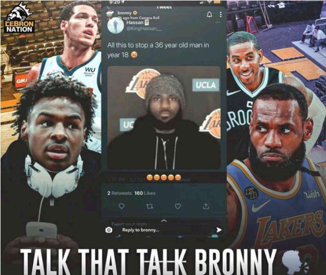 Bronny轉發文章:籃網所做的一切都是為了阻止一個36歲,征戰了聯盟18年的人去奪冠?-籃球圈