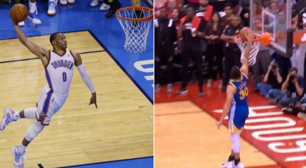 兩人身高相差無幾!為何Curry與Westbrook的灌籃差距這麼大?