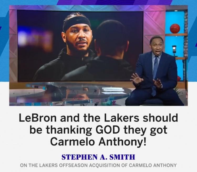 A-史密斯:湖人應感謝上帝他們得到了安東尼,他油箱里還有很多油!-黑特籃球-NBA新聞影音圖片分享社區