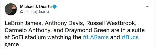 公羊迎戰海盜!老詹、安東尼、追夢、Horton-Tucker、威少和一眉現場觀戰-黑特籃球-NBA新聞影音圖片分享社區