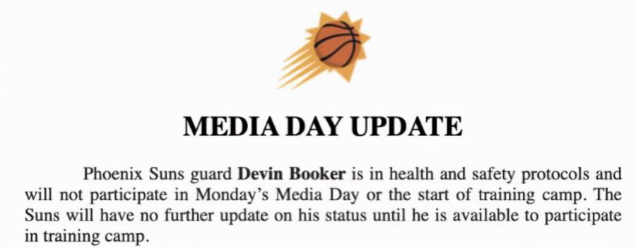 Booker感染新冠病毒!本人親自在直播上公佈,已染病一週+失去嗅覺和味覺!-黑特籃球-NBA新聞影音圖片分享社區